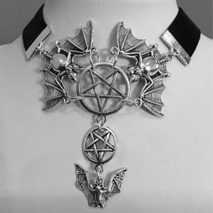 🖤Gothic Bat and Pentagram Choker🖤